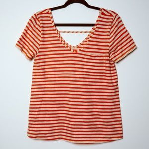 Pure + Good | Anthro Striped Pocket Tee